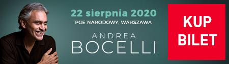 bilety Andrea Bocelli Warszawa 2020